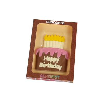 Chocolate Alchemist Happy Birthday Plaque