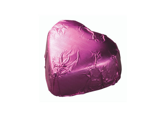 Pink Foiled Chocolate Heart with Caramel Filling
