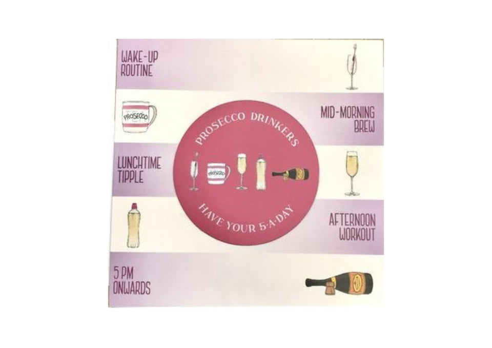 Prosecco Drinkers Card & Fridge Magnet xx