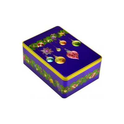 Christmas Bauble Rectangular Biscuit Gift Tin