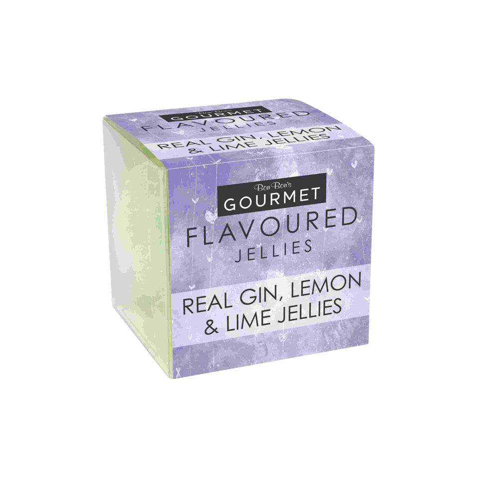 Real Gin, Lemon & Lime Flavoured Jellies xx