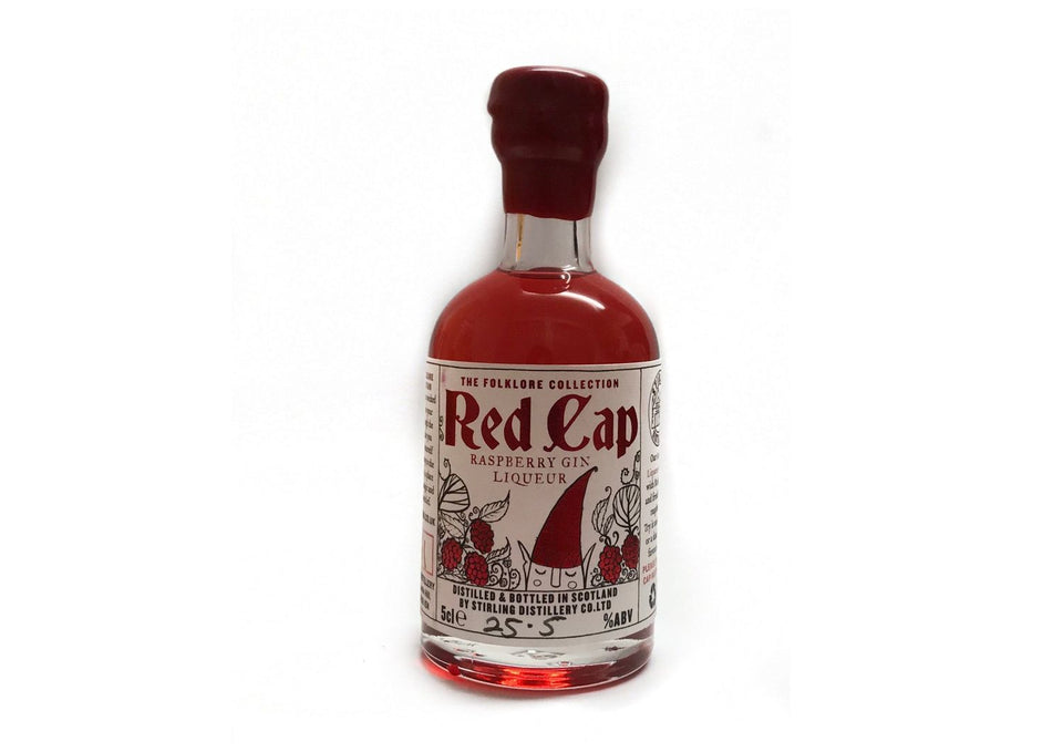 Red Cap Raspberry Gin Liqueur 5cl xx