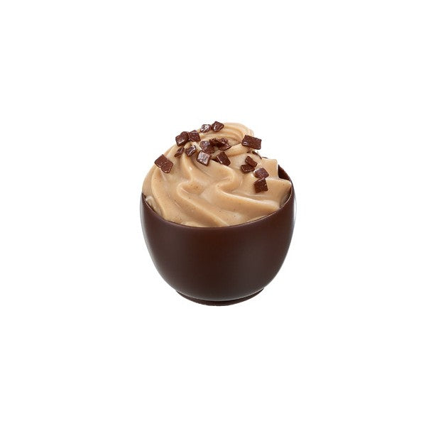 Salted Caramel Cupcake in Dark Chocolate