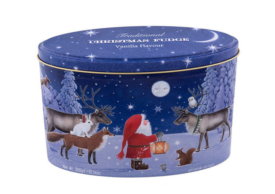 Christmas Santa & Moon Gift Tin of Vanilla Fudge