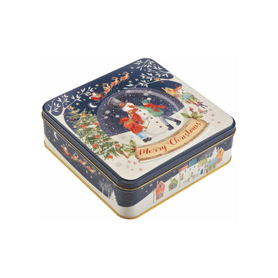 Snow Globe Christmas Gift Tin