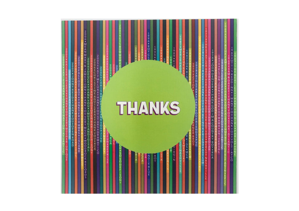 Thanks Greetings Card (with magnet) xx