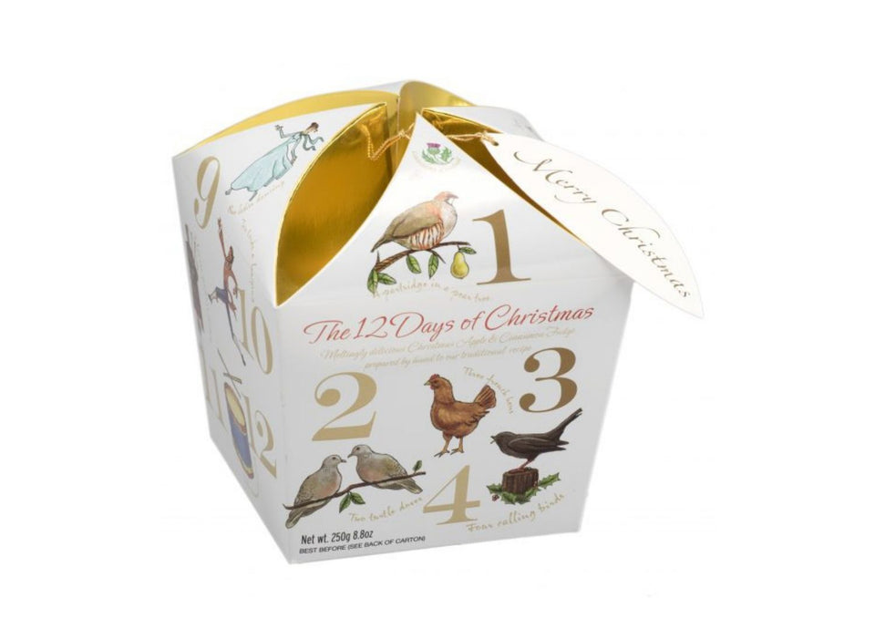 Apple and Cinnamon Fudge 12 Days of Christmas Gift Box xx
