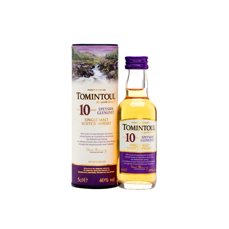 Tomintoul 10 Year Old Whisky 5cl xx