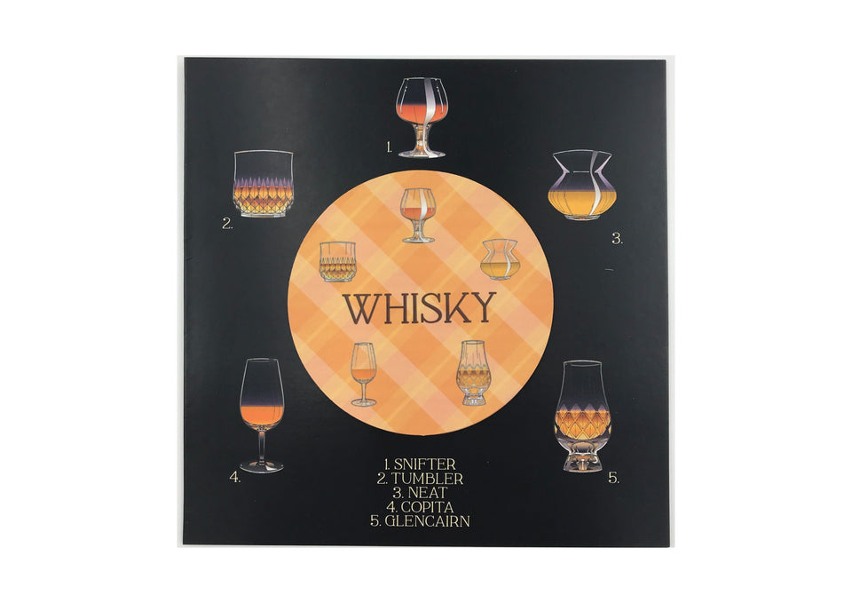 Whisky Glasses Card & Fridge Magnet xx