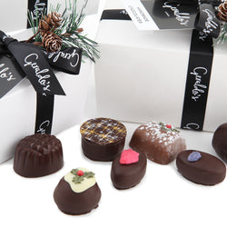 Christmas Ballotin Gift Box of Handmade Chocolates