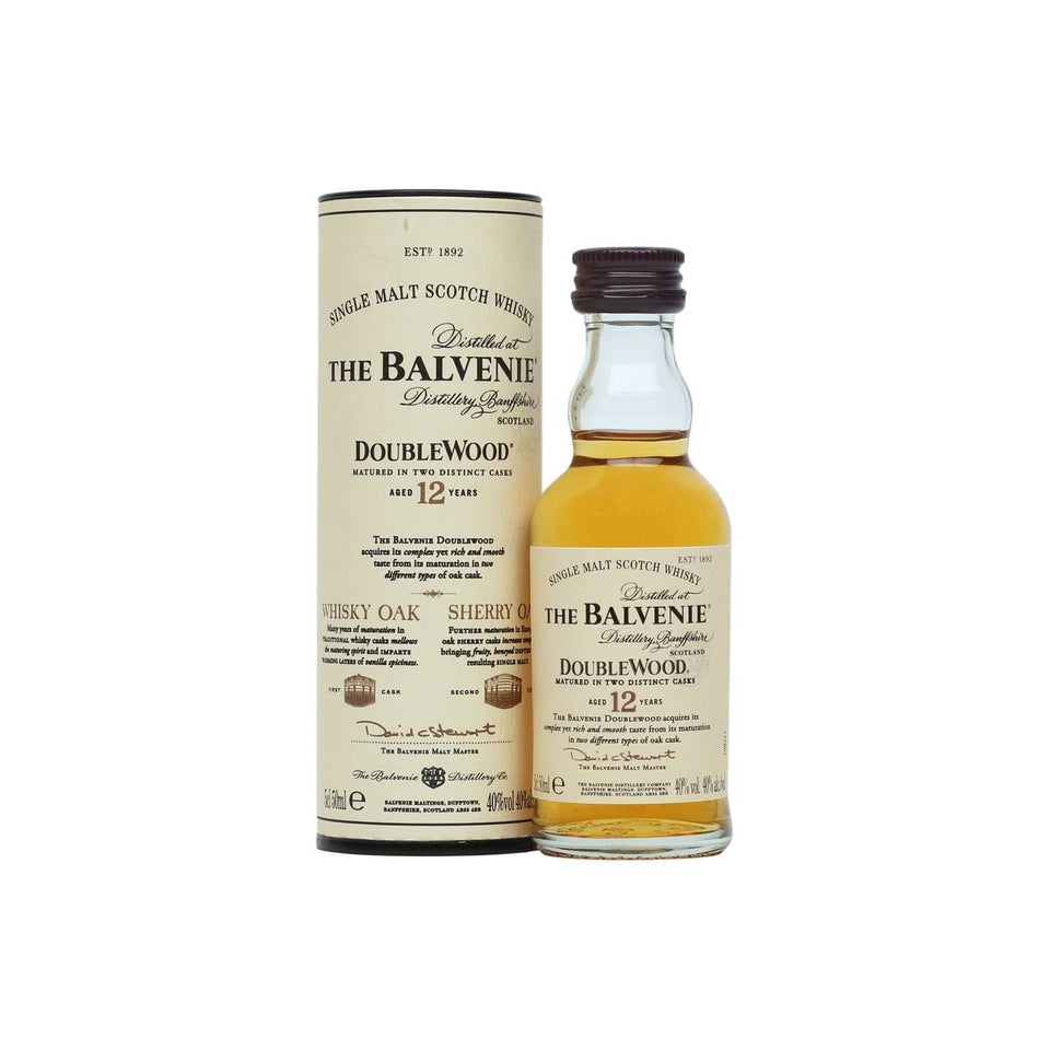 Balvenie Double Wood 12 Year Old Whisky 5cl xx