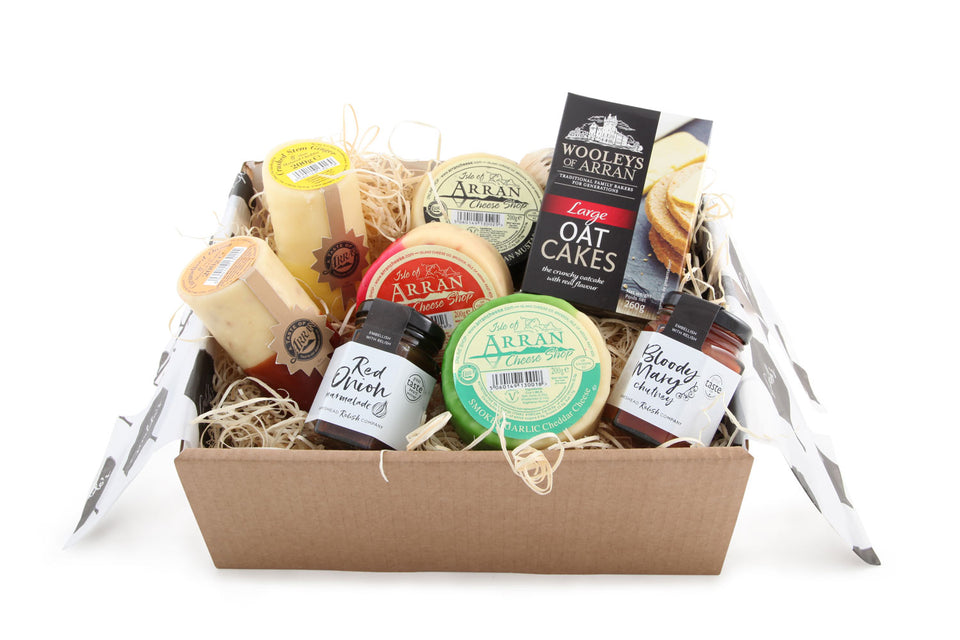 Arran Cheese, Oatcakes & Chutney Hamper xx