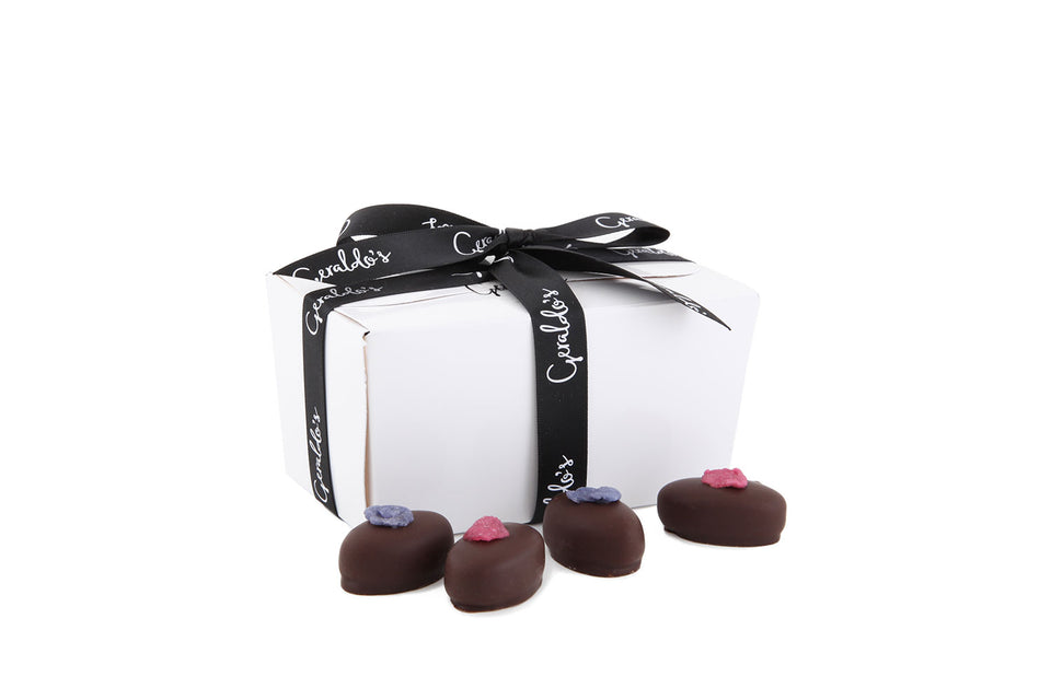 Mixed Ballotin Gift Box of Rose & Violet Creams xx