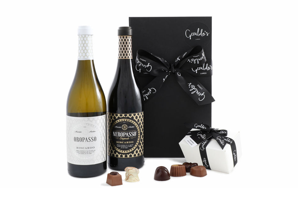 Neropasso & Oropasso Wine with Chocolates Gift Hamper xx