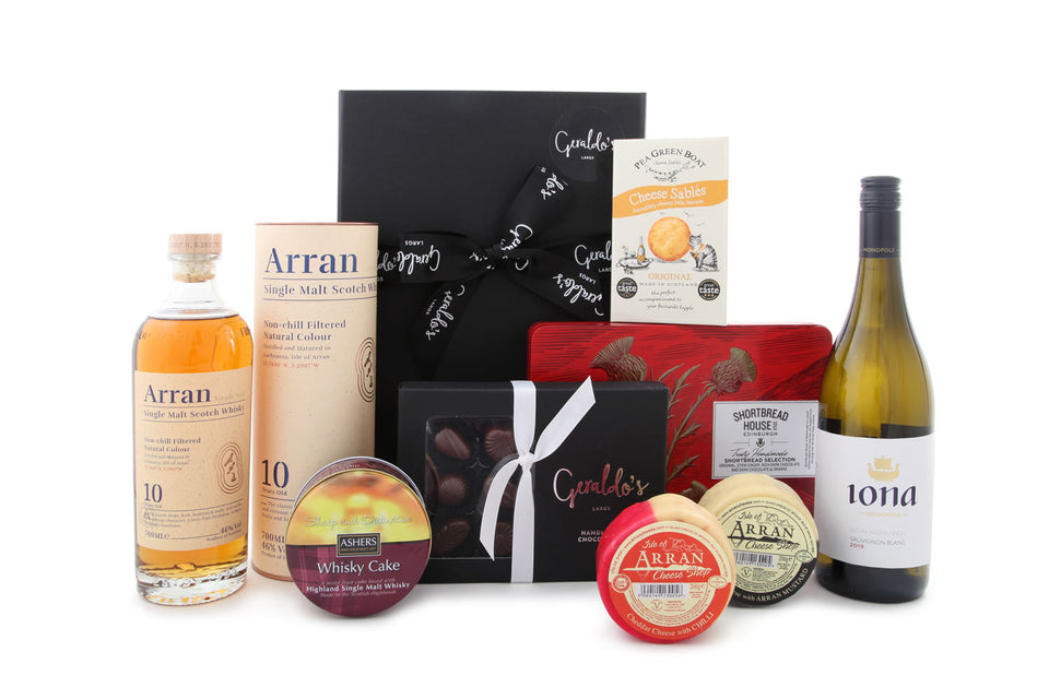 Luxury Burns Night Wine & Whisky Hamper xx