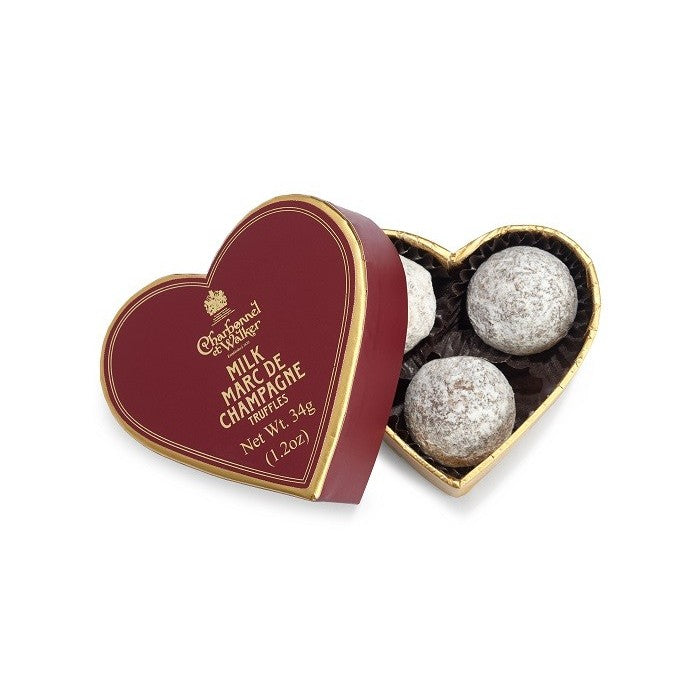 Mini Heart With Milk Marc De Champagne Truffles xx