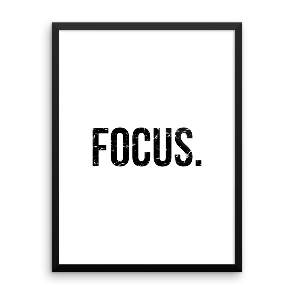 'Focus.' Design | White