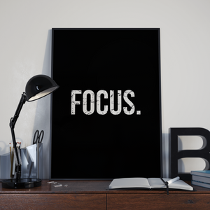'Focus.' Design | Black