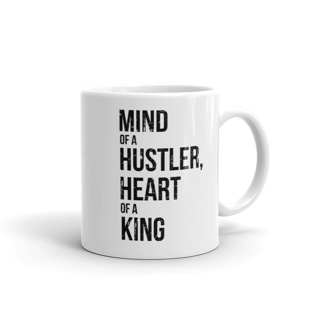 'Mind of a Hustler, Heart of a King' Coffee Mug