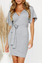 Load image into Gallery viewer, V Neck Wrap Dress