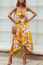 Load image into Gallery viewer, Floral Knot-Front Maxi Dress