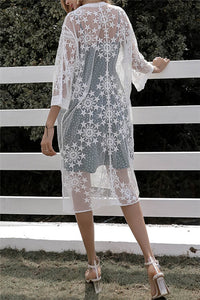 Star Embroidery Coverup