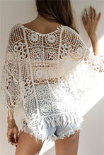 Load image into Gallery viewer, Crochet Tassel Tunic Coverup