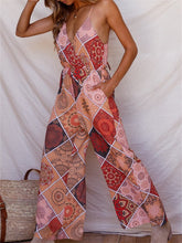 Load image into Gallery viewer, Boho Cutout Jumpsuit