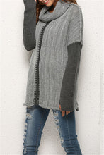 Load image into Gallery viewer, Cowl-Neck Two-Tone Sweater