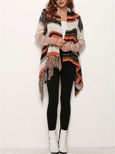 Load image into Gallery viewer, Tassel Stripe Poncho