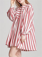 Load image into Gallery viewer, Stripe Long-Sleeve Mini Dress
