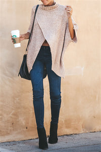 Slit Front Pullover Sweater