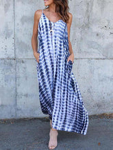 Load image into Gallery viewer, V-neck & V-back Printed Maxi Dress