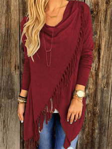 Asymmetrical Tassel Top