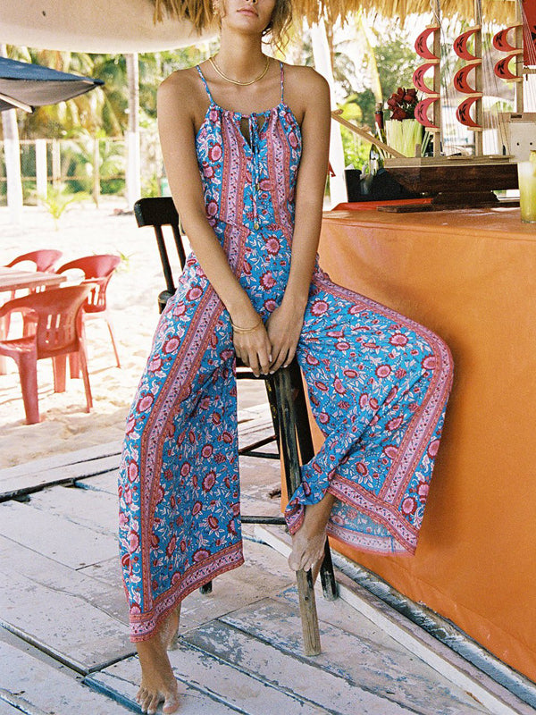 Bohemian Wide-Legged Jumpsuit
