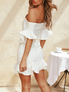 One-Shoulder Ruffled Dress