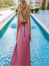 Load image into Gallery viewer, Spaghetti Deep V Backless Maxi Dress