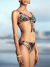 Load image into Gallery viewer, Printed Front Knot Bikini