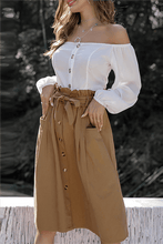 Load image into Gallery viewer, Button-Down Skirt With Belt