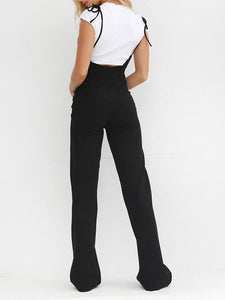 Slim-Fitting Strappy High Waist Pants