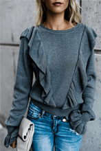 Load image into Gallery viewer, Frilled Bell Sleeve T Shirt