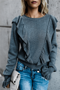 Frilled Bell Sleeve T Shirt