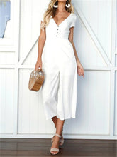 Load image into Gallery viewer, V-neck Culotte Jumpsuit
