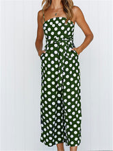 Load image into Gallery viewer, Spaghetti Straps Polka Dot Jumpsuit