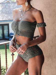 Pure Knit Hollow Swimwear