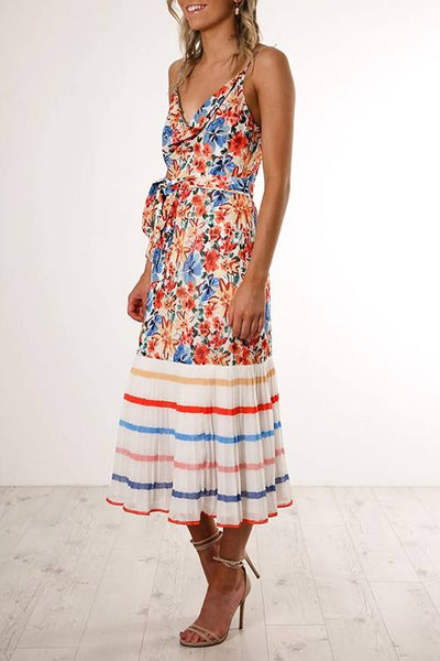 Floral Pleated Cami Dress