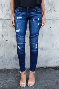 Destroyed Stretchy Skinny Jeans