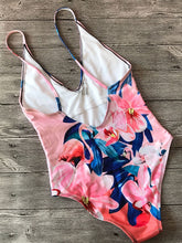 Load image into Gallery viewer, Flamingo Floral Printed One Piece Swimsuit