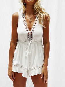 V-Neck Strappy Romper