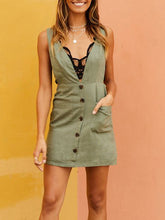 Load image into Gallery viewer, Green Casual Strap Dress